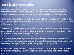 opinion essay an opinion essay presents our personal opinion on a  4 mobile phones at school