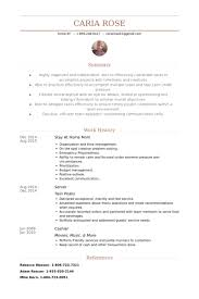 Stay At Home Mom Resume samples