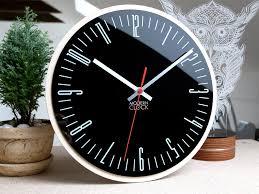 large wall clock piano wood wall