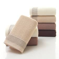 cotton hand towels for bathroom. new fashion 34*76cm jacquard cotton terry hand towels,solid decorative embroidered bathroom towels for