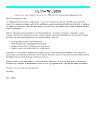 Accounting Cover Letter Samples Free Cover Letter For Accounting