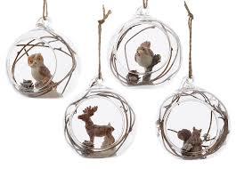 Christbaumkugeln Echt Glas Mit Waldtieren 4 Stück