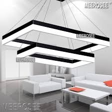 suspension lighting fixtures. led pendant light modern rectangle black suspension fixture gold dining room lamp lighting fixtures i