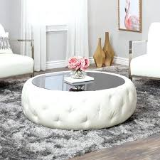 white leather coffee table white leather round coffee table square white leather coffee table