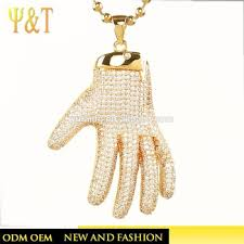 jingli jewelry hot selling men iced out jewelry pendants mens hand pendants hip hop necklaces