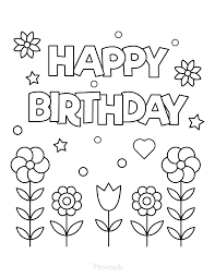 You should use this image for backgrounds on cellular with high quality resolution. 55 Best Happy Birthday Coloring Pages Free Printable Pdfs