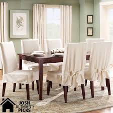cotton duck short dining room chair slipcover in natural ideas for the house dining room chair slipcovers chair slipcovers and cotton
