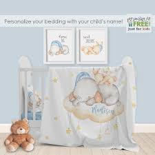 personalized baby nursery crib bedding