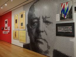 mies exhibition at moma large format digitally printed wallpaper print and installation by color