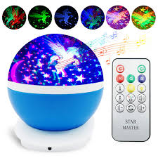 Unicorn Night Light Projector Night Light For Kids Eichzhushp Unicorn Gift Remote Control Star Moon Projector 360 Degree Rotating