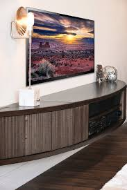 curved wall mount floating