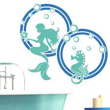 Wandtattoo Meerjungfrau Mit Seepferdchen 2farbig