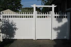 vinyl fence double gate. Image Of: Vinyl Fence Gate Double