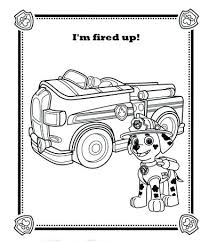 Small Picture Coloring Pages Paw Patrol Marshall Coloring Pages Ideas