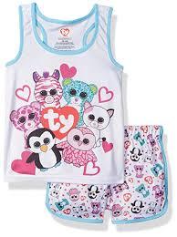Intimo Girls Ty Beanie Boo Sporty Mesh Pajama Set