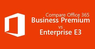 Office 365 Enterprise Plans Comparison Chart Office 365 Business Premium Vs E3 In Depth Comparsion With