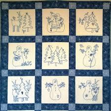 Bird Brain Designs - embroidery, redwork designs, redwork patterns ... & Picture of Snowmen & Reindeer Hand Embroidery Quilt Adamdwight.com
