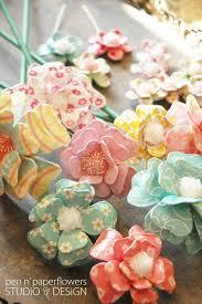 Flower Paper Mache Beautiful Handmade Flowers From Pen And Paper Flowers Blog