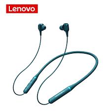 Lenovo kablosuz Bluetooth 5.0 kulaklık 4 hoparlörlü çift eylem halka  kulaklık asılı boyun kulaklık su geçirmez spor kulaklıklar|Bluetooth  Earphones & Headphones