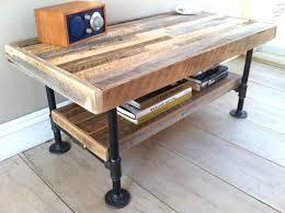 rustic industrial coffee table homevance brynn reclaimed wood iron metal cocktail diy pipe