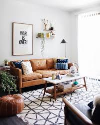 lighting inspiration. Marvelous Mid Century Modern Living Room Create A Lighting Inspiration Wooden Leg White Rectangle Table Brown Leather Couch Patterned Rug