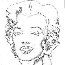 Small Picture Marilyn Monroe Andy Warhol Coloring Page Photo Pinterest