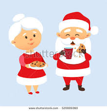cookies for santa clip art. Contemporary Cookies Cookies And Milk With Santa Mrs Claus For Clip Art