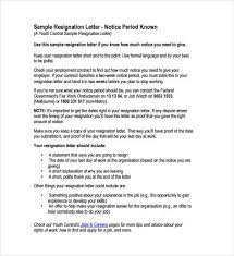 Sample Of Resignation Letter From Jobs 9 Resignation Letter Sample Writing Letters Formats