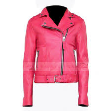 womens hot pink leather biker jacket zoom womens