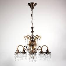 wonderful antique polychrome art nouveau chandelier with prisms nc1346 for