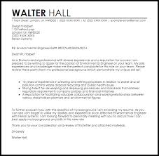 Environmental Engineer Cover Letter Sample Cover Letter