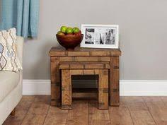 heyford rough sawn oak nest of 2 coffee tables baumhaus aston oak coffee table