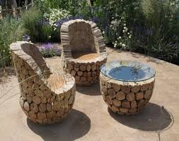 rustic outdoor table and chairs. Recycled Wood Pieces Rustic Outdoor Furniture Table And Chairs