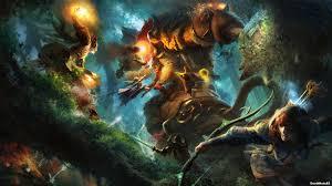 artwork dota 2 fantasy art magic windrunner zi walldevil