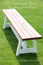 simple and easy farmhouse bench