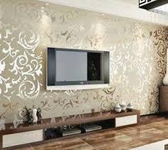 T V Unit Design Images Tv Unit Design Works Gold Wallpaper Living Room Ideas
