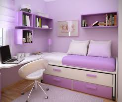 ... Awesome Ideas In Interior Decoration For Teenage Bedroom : Artistic  Purple Theme Girls Teen Room Using