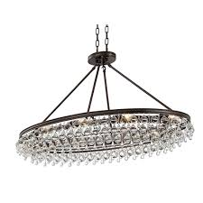 bennett oval chandelier bronze