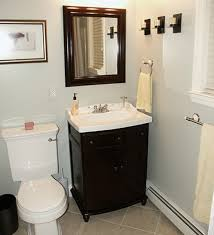 How To Decorate Simple Bathrooms Designs: Simple Bathroom Design With  Square Mirror, Hand Towel And Toilet
