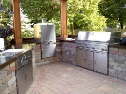 Outdoor Kitchen Patio Contemporary Patio With Outdoor Kitchen Exterior Stone Floors