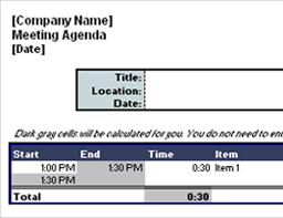 Microsoft Office Agenda Template Agendas Office Com