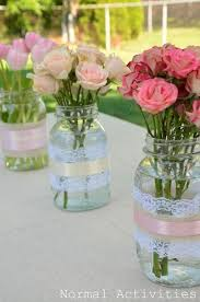 Decorating Mason Jars For Bridal Shower