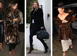 alessandra ambrosio kate moss and rihanna shrug off the winter fur coat vogue