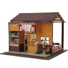 diy japanese furniture. Hoomeda DIY Wood Dollhouse Miniature Doll Toys With LED Furniture Cover Sushi Bar Japanese Style Home Diy S
