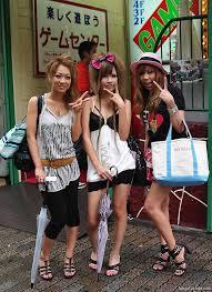 Japanese teen models in heels