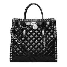 Michael kors Hamilton Large Grommet Quilted-Leather Tote in Black ... & Gallery. Women's Michael Kors Quilted Bag Adamdwight.com