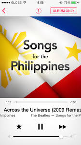 Itunes Philippines Chart Album Songs For The Philippines Released On Itunes To Aid Typhoon