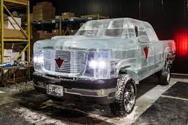 Canadian Tire Makes A Drivable Pickup Truck Out Of Ice