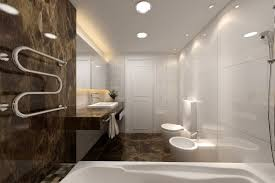 bathroom modern white. Bathroom, Modern Bathroom Designs For Small Bathrooms Majesty White Macerino Acrylic Bathtub Stained Plastering Wall