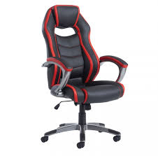 red leather office chair. Jenson Black And Red Leather Office Chair E
